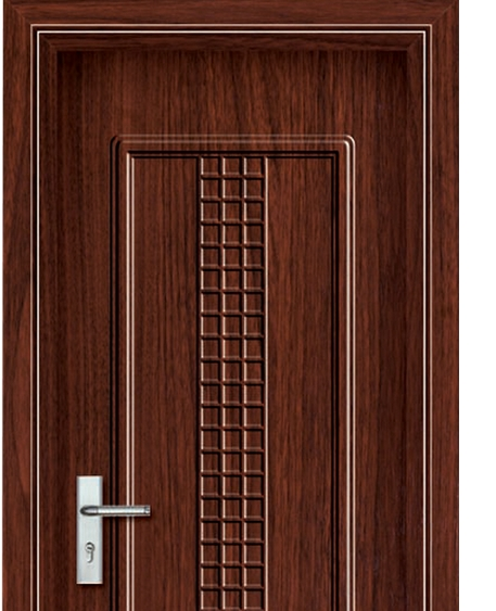 Small checkered patterns panel PVC door