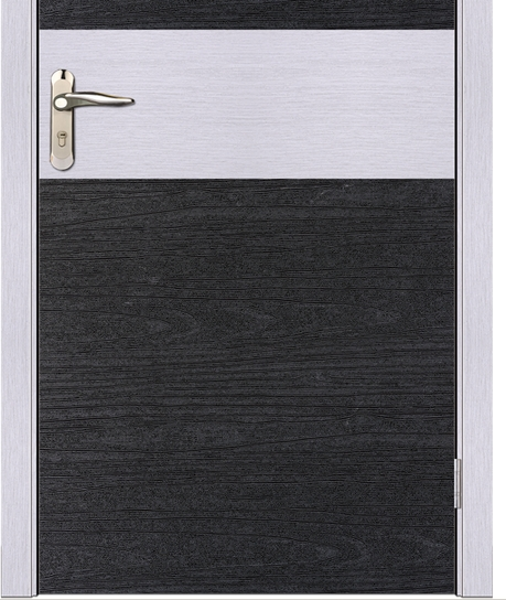 Minimalist double color PVC wooden door