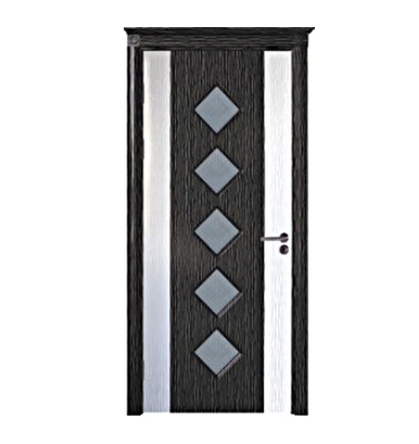 Diamond pattern PVC wooden door