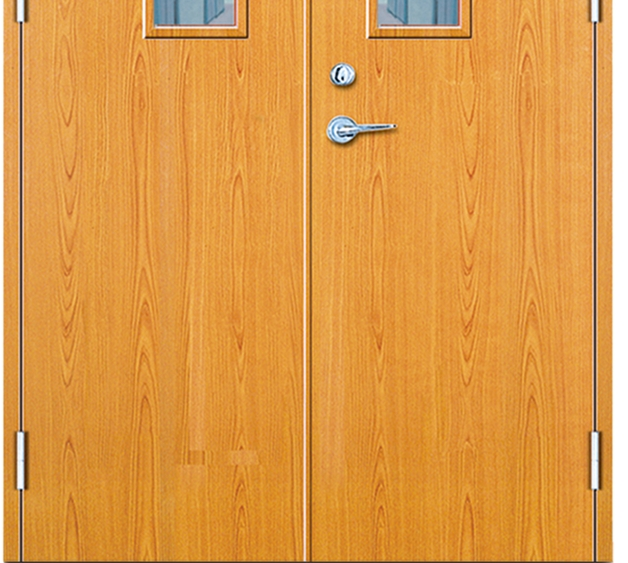 Glass Fire Rated Wood Door