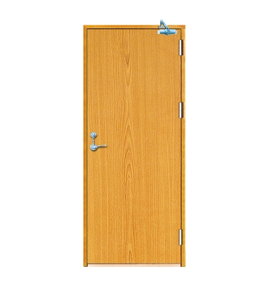 Minimalist fire rated wood door