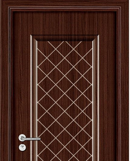 Plaid patterns panel PVC door