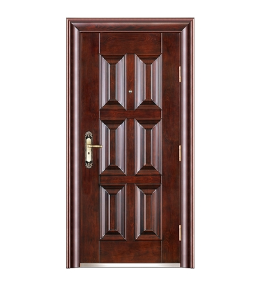 Double row rectangular patterns steel front door