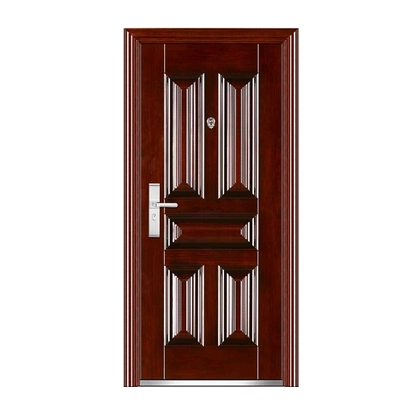 Combination patterns steel entry door