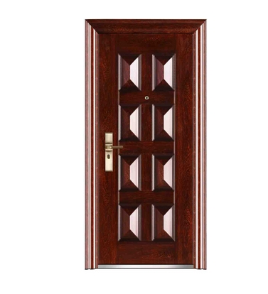 Double row -3d patterns steel entry door