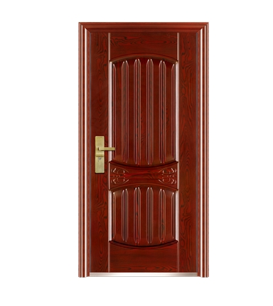 Small striped pattern steel front door