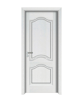 Light-colored wooden panel door