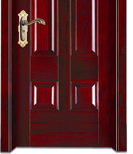 Double striped wooden panel door