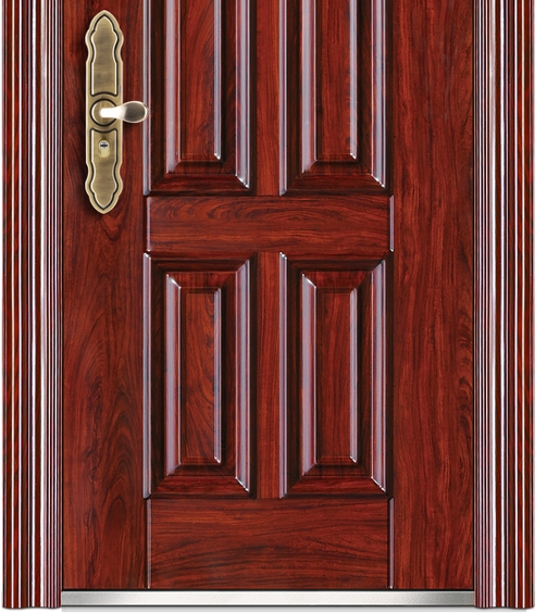 Double stripe patterns steel front door