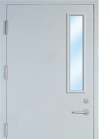 Multipurpose minimalist steel security door