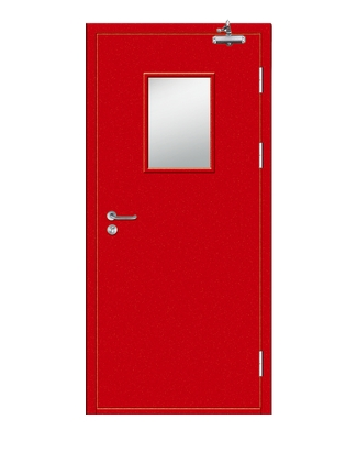 Multipurpose fire rated steel door