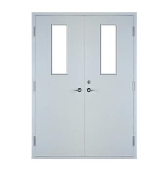 Multipurpose fire rated steel double leaf door