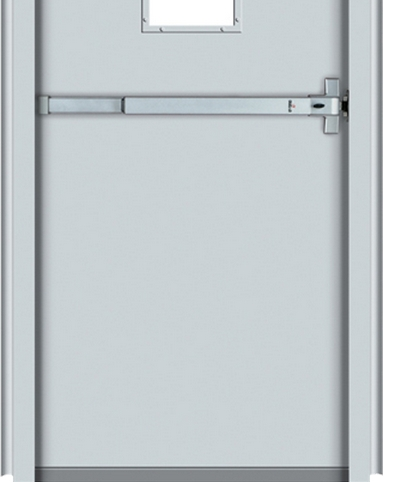 Multipurpose glass and fire rated steel door