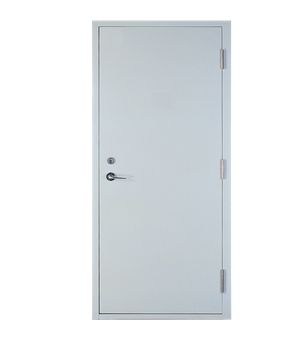 Multipurpose minimalist fire rated steel door