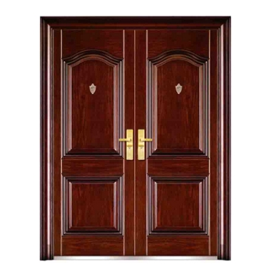 Popular steel double leaf door