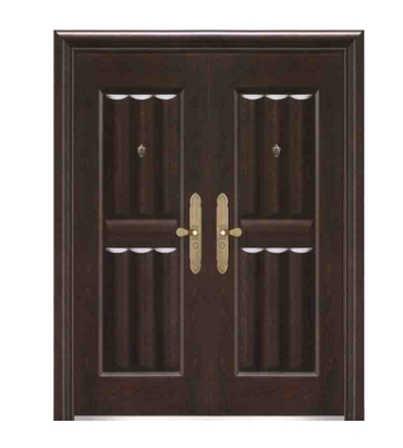 stripes steel double leaf door