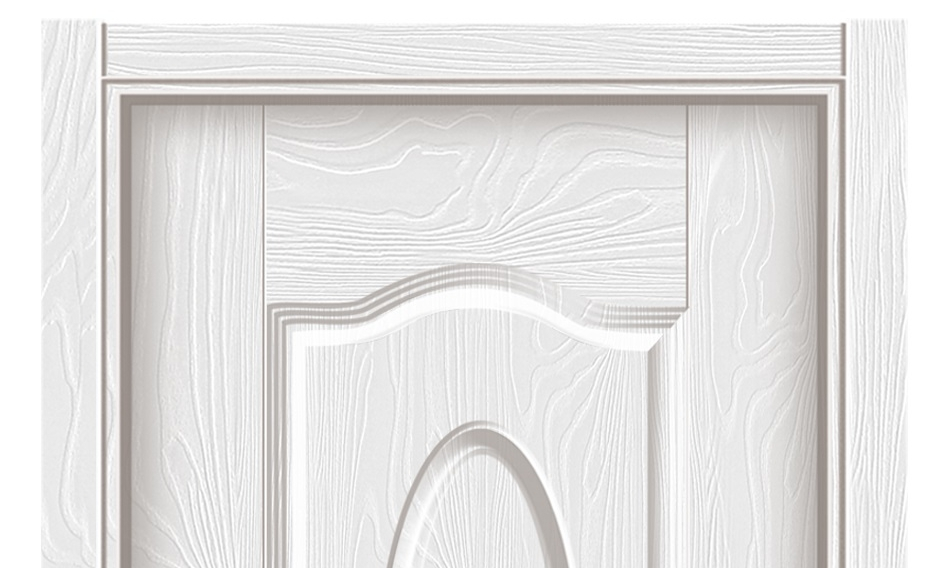 Simple pattern series melamine flush door