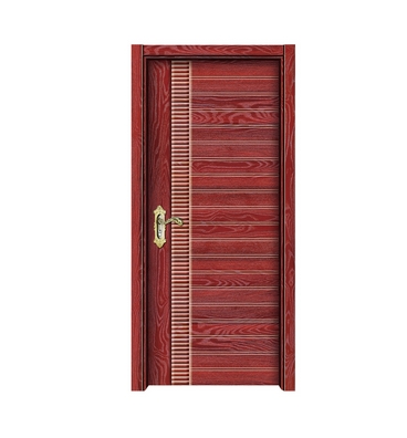 Multi-stripes melamine flush door