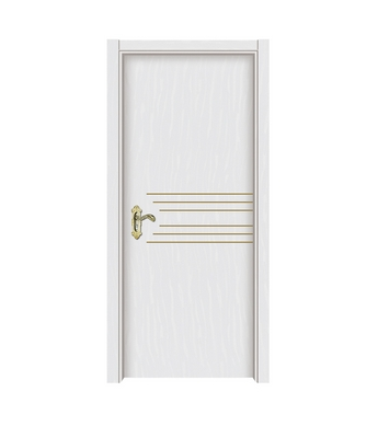 Multi-lines melamine flush door