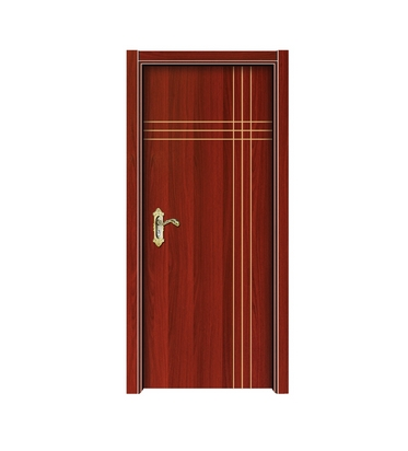 Cross lines melamine flush door