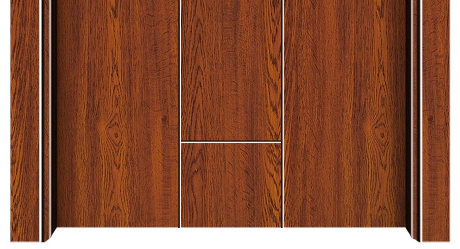 Simple stripes melamine flush door