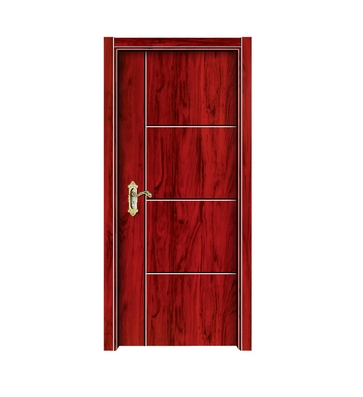 Simple lines melamine flush door