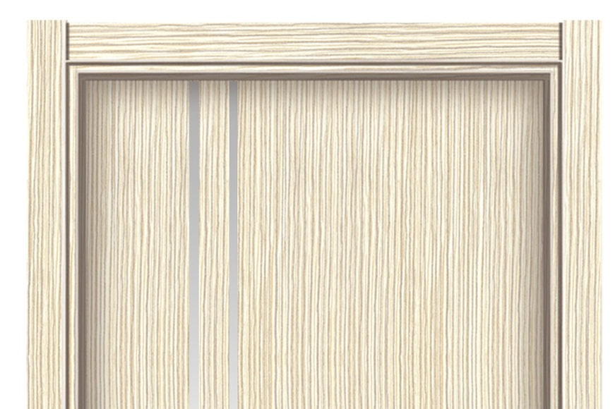 Double lines melamine flush door