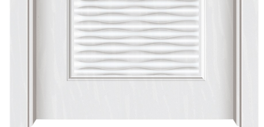 Pinstriped melamine flush door