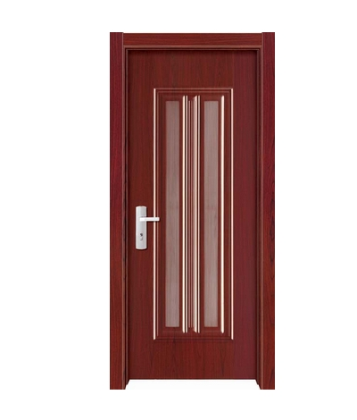 Double stripes melamine flush door