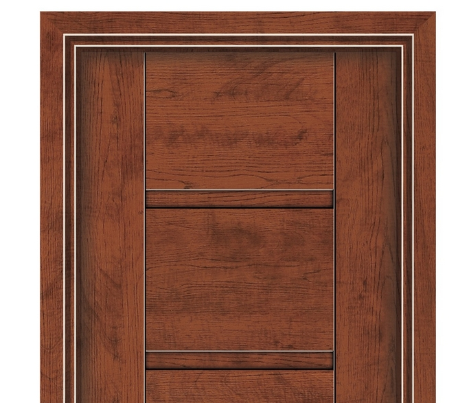 Simple melamine flush door