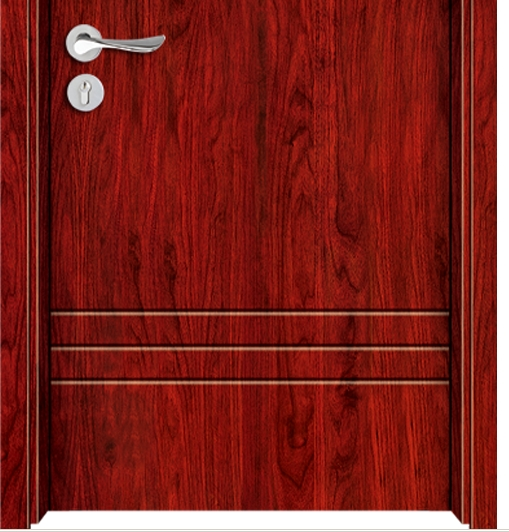 Six lines melamine flush door
