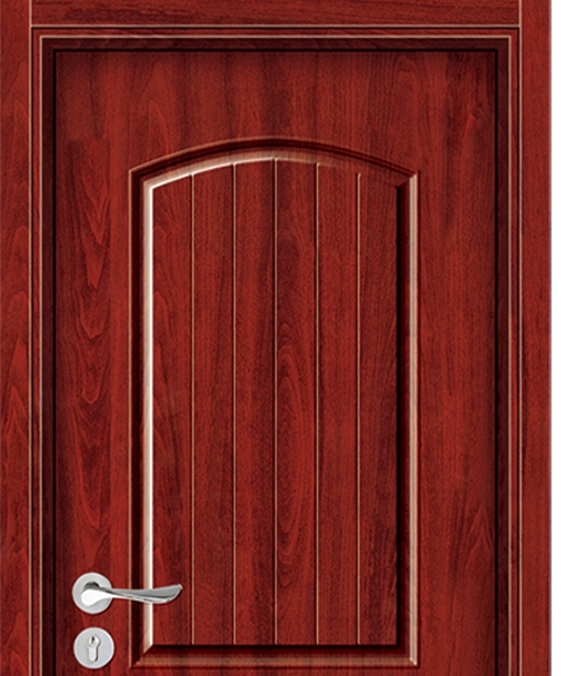 Simple carved melamine flush door