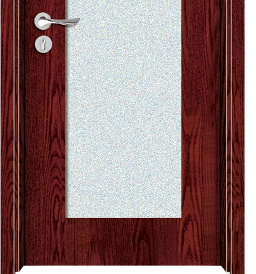 big glass window melamine door