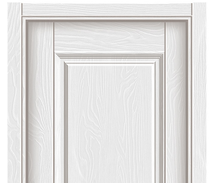Minimalist melamine flush door