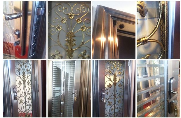 Small case grain stainless steel door