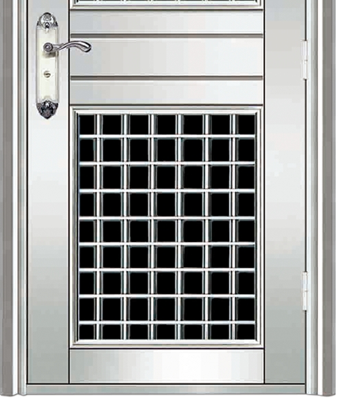 case grain stainless steel door
