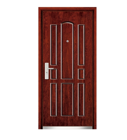 Multi stripes steel-wooden front door