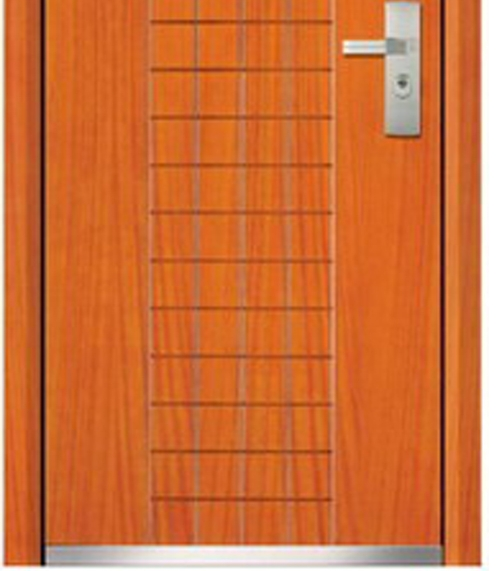 case grain steel-wooden front door