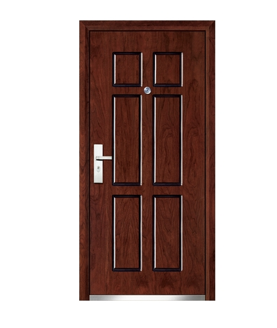 Three lines steel wooden entry door for Exterior door manufacturers