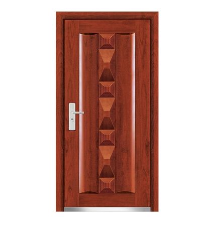 3D patterns steel-wooden entry door