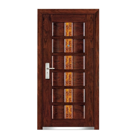 Fashion patterns steel-wooden entry door