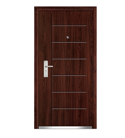 Simple steel-wooden entry door