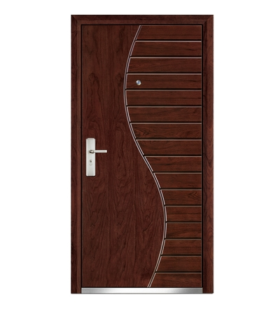 S-type patterns steel-wooden entry door