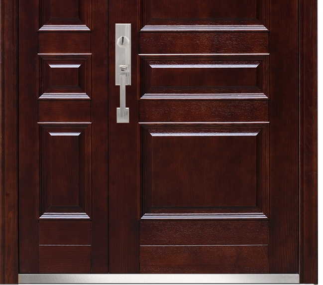 widening classic steel-wooden entry door