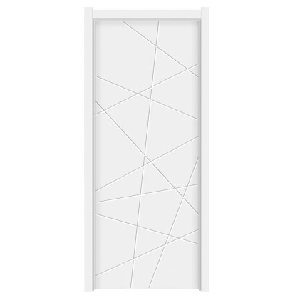 Modern patterns wooden flush door