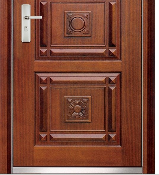Popular steel-wooden entry door