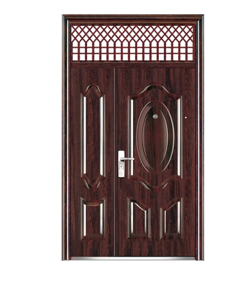 Mesh pattern steel front door