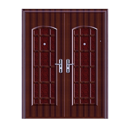 Case grain steel double leaf door