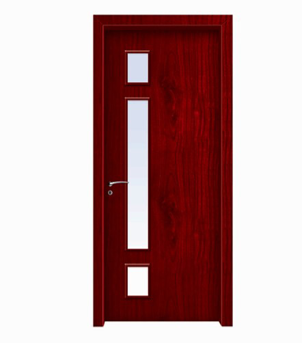 Classic woodgrain glass WPC door