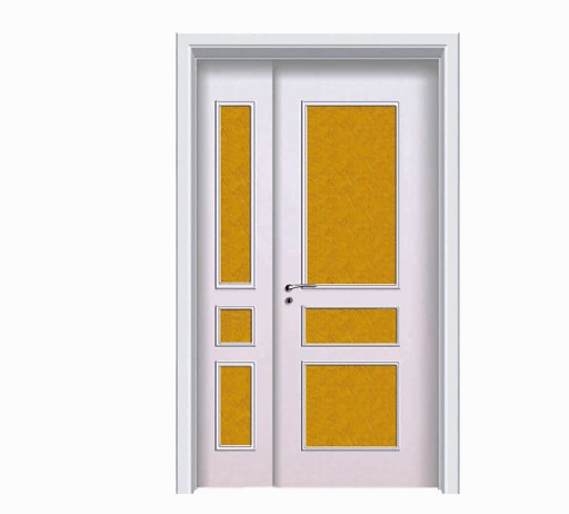 Classic glass wood plastic composite unequal double door
